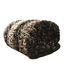manta de tiro de piel sintética de felpa de sofá