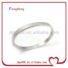 2014 novo design popular 316L aço inoxidável gravado pulseira