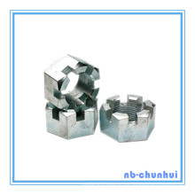 Hexagonal Hexágono Slotted Nut-7/8 ~ 1-1 / 8
