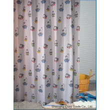 Multi-Color Baby Kid Cartoon Design Polyester Shower Curtain