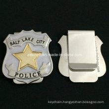 Custom Stainless Steel Police Officer Money Clip for Souvenir