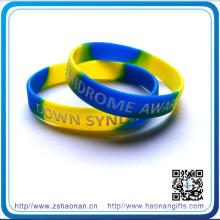 202*12*2mm OEM Printed Silicone Bracelet Rubber Band