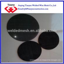 Filtro de alambre de hierro negro dics / piezas fabricante
