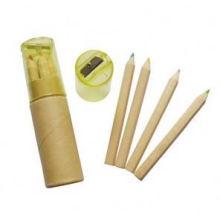 Lápis de madeira natural com apontador de lápis