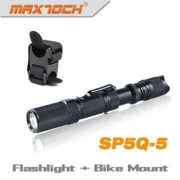 Maxtoch SP5Q-5 CREE Q5 Flashlight Led With Clip