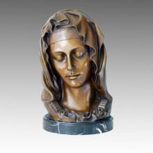 Busts Art Figure Bronze Sculpture Maria Home Decor Brass Statue TPE-235