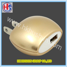 Top Quanlity Gold Yellow Power Supply Plug with Copper (HS-CP-006)