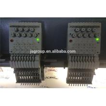 JS máquina de bordar de alta velocidade 1200 RPM com 20 cabeças 4,6,9,12,15 agulhas