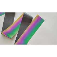 Tecido reflexivo arco-íris de alta luz elástico para roupas esportivas