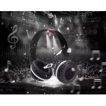 Novo design 2 em 1 fone de ouvido Bluetooth sem fio dobrável com função de alto-falante