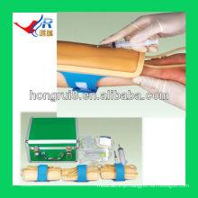 Advanced iv injection training pad forearm modelo de treinamento de venipuntura
