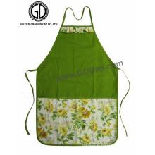 Vente en gros Polyester Coton Flower Pattern Nouveau Tablier avec Big Pocket