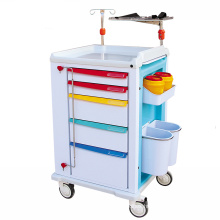 Aluminum Metal Hospital Emergency Trolley for patient , ABS Medical Device Emergency Crash trolley Cart