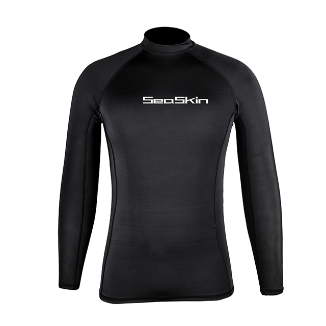 Seaskin Black Rash Guard for mens