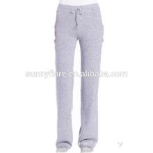Pantalones de pantalón supercálidos de cashmere 100% para mujer
