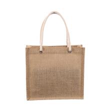 Jute fibre custom jute shopping bag