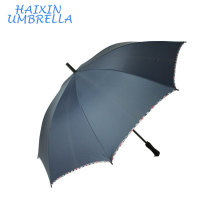 Umbrella Manufacturer China 685mm To Open Custom Print Double Ribs Navy Check Edg Golf Umbrella with EVA Handle for Business
