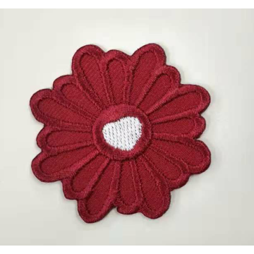 Kid Clothing Accessory Colorful Flower Embroidered Badge