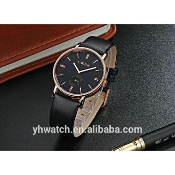 reloj de hombre de cuero de cuarzo de movimiento de moda estilo japón