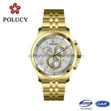 316L из нержавеющей стали хронограф часы мужчины золото