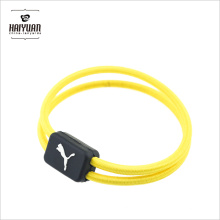 High Quality Yellow Elastic Round Band with Custom Plastic Tape