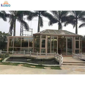 Policarbonato Aluminio Sunroom Glass House Winter Garden