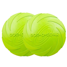 Folleto de perro de goma natural no tóxico, paquete de 2