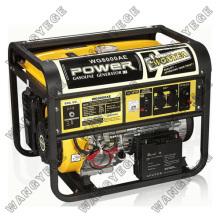 Generador de gasolina con motor WE190F-WE190FE y el silenciador grande