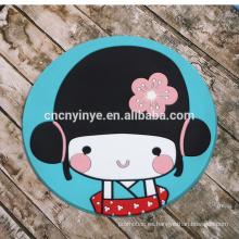 Estera de goma del forma personalizados alta calidad linda chica cartoon, mini montaña rusa