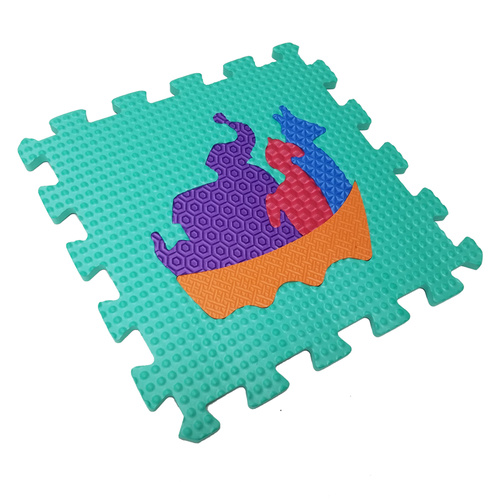 Melors Puzzle Mainkan Mat Floororing Mats untuk Anak dengan Traffic Shapes Pop-Out