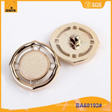 Bouton en plastique plaqué UV de conception de mode BA60192