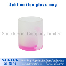 Sublimation 11oz Pink Frosted Glass