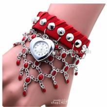 Retro moda couro multi-cadeia senhoras relógios relógios BWL041