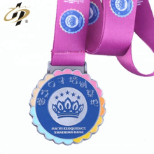 Wholesale custom metal enamel colour medals for children
