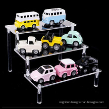 Clear Transparent 3 Tier Storage Riser Acrylic Pop Display Stand for Cupcake or  Pop Figures