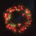 Weihnachtsbeleuchtung führte Lichterkette mit Socke