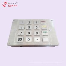 Зашифрованная контактная панель из нержавеющей стали для автоматических платежных киосков