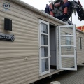 Casa minúscula prefabricada caliente de la casa móvil del chalet de la venta en las ruedas prefabricadas
