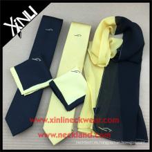 Corbata de encargo al por mayor de la impresión de Digitaces de los hombres con la bufanda a juego de las mujeres