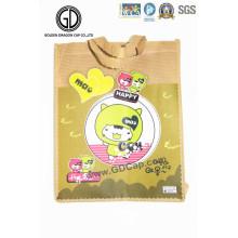 Colorful Cute Portable Reusable Nonwoven Fabric Shopping Tote Bag