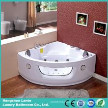 Banho de banheira de hidromassagem Corner Whirlpool de 1400 mm com função de ozônio (CDT-001)
