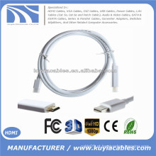 1.8M / 6FT Mini Display Port DP para Cabo HDMI Cabo Converter Adapter Para Macbook