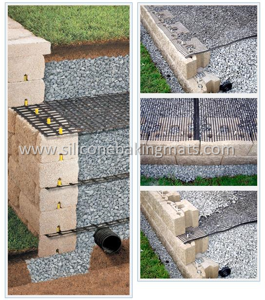 Polyester Geogrid Installation Process For Retaining Wall