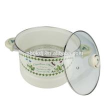 panela de cozimento de vapor de esmalte chinês personalizado
