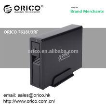 ORICO 7618U3RF Wifi 3.5 '' recinto fechado hardcover recarregável preto e prata