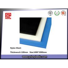 Hoja de nylon de poliamida PA de 6-100 mm de espesor de color