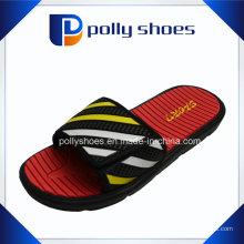 Mens Velcro Flip Flop chuveiro esportes sandálias Flat Gents Slipper