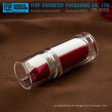 YB-W20 20ml (10 ml x 2) Sonderausführung leeren runden Acryl dual Kammer Flasche