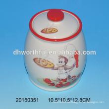 Olla de condimento de cerámica en forma de mono para la cocina