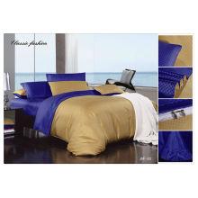 100% algodón 40s 133 * 72 de color sólido de jacquard de lujo europea ropa de cama conjunto